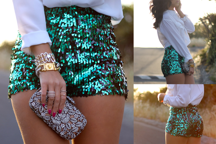 Sparkly High Waisted Shorts