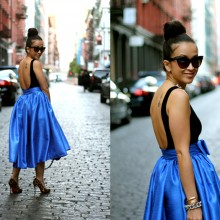 NYC Day 3: Lady in Blue
