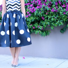 Holiday Moods: Polka Dots, Chevron & Pink (+ Skirt GIVEAWAY)