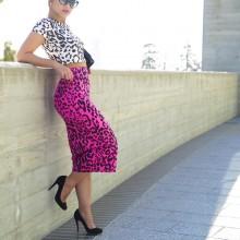Leopard x Leopard // White x Pink